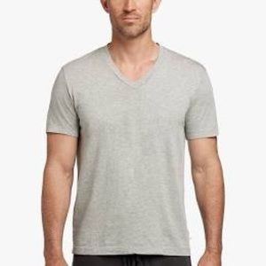 James Perse Gray v-neck T-shirt, L